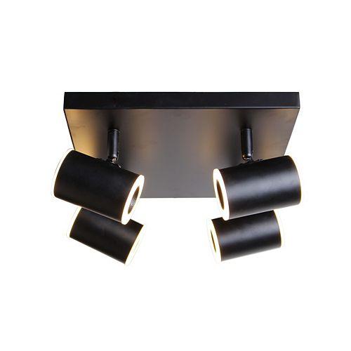 Plafonnier noir à 4 lumières de la collection Kipnuk