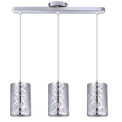 Luminaire suspendu chrome à 3 lumières de la collection Nice