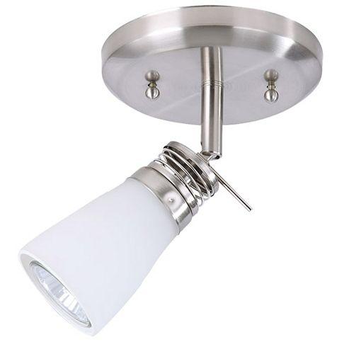 Plafonnier satin nickel à 1 lumière de la collection Bâle