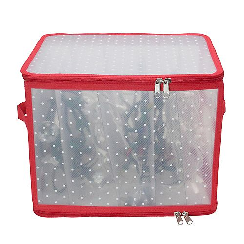 "12.5"" Transparent Zip Up Christmas Light Storage Box"