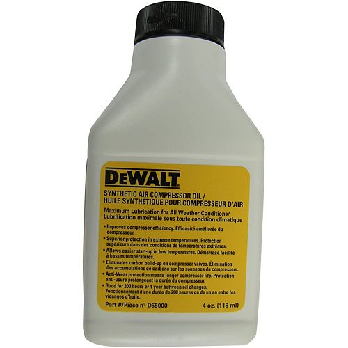 SYNTHETIC COMPRESSOR OIL, 4 OZ BOTTLES (48 PER CASE)
