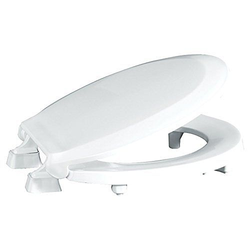 Centoco ADA Compliant 2 inch Raised Round Closed Front with Cover Toilet Seat in White