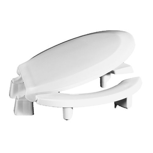 Centoco ADA Compliant 3 inch Raised Round Open Front with Cover Toilet Seat in White