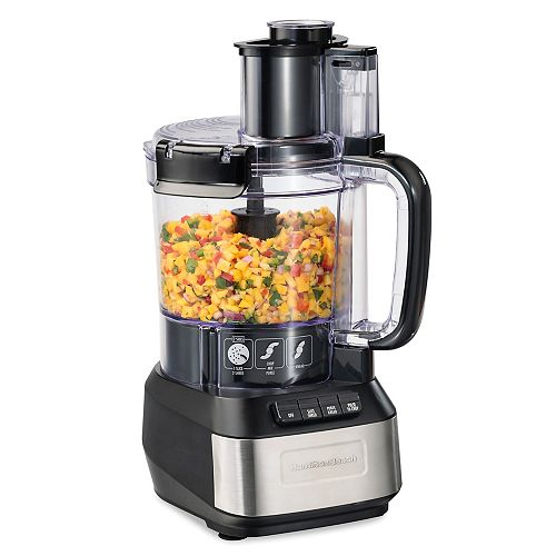Hamilton Beach Stack & Snap 12-Cup Capacity Food Processor in Black