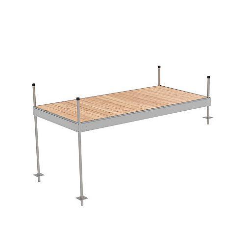 5 ft x 10 ft Aluminum Stationary Dock Kit
