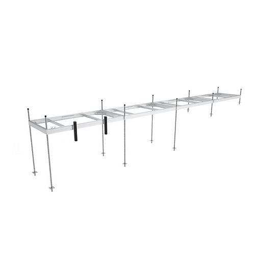 Multinautic Four 5 ft x 10 ft Aluminum Stationary Dock Section Kit