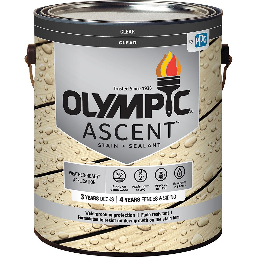 Olympic Ascent Clear Waterproofing Sealant 3.78 L Capacity 564001C