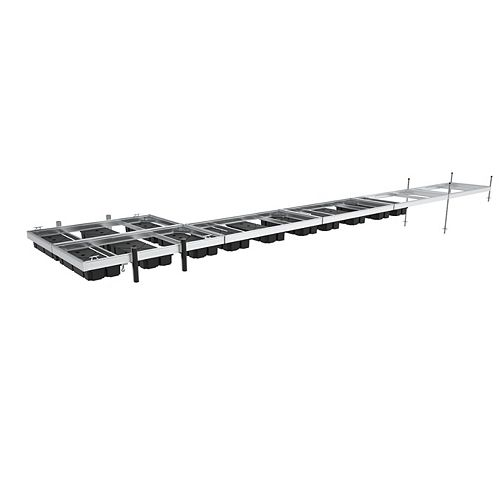 Ensemble de 6 Quais Flottants de 5 pi x 10 pi en Aluminium à Bas Franc-bord