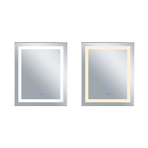 LED rectangle blanc mat intégré 30 po. Miroir De notre collection Abril