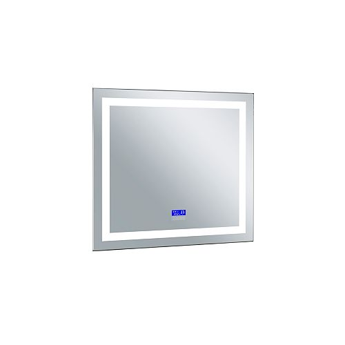 Rectangle blanc mat 30 po. Miroir De notre collection Abril avec Bright LED blanc