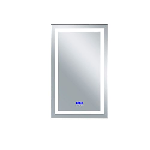 LED rectangle blanc mat 30 po. Miroir De notre collection Abril Bright LED blanc