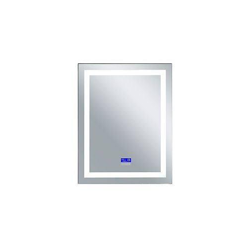Rectangle blanc mat LED 32 po. Miroir De notre collection Abril Bright LED blanc