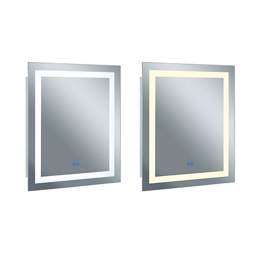 Place Matte White LED 36 po. Miroir De notre collection Abril