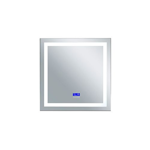 Rectangle blanc mat LED 36 po. Miroir De notre collection Abril