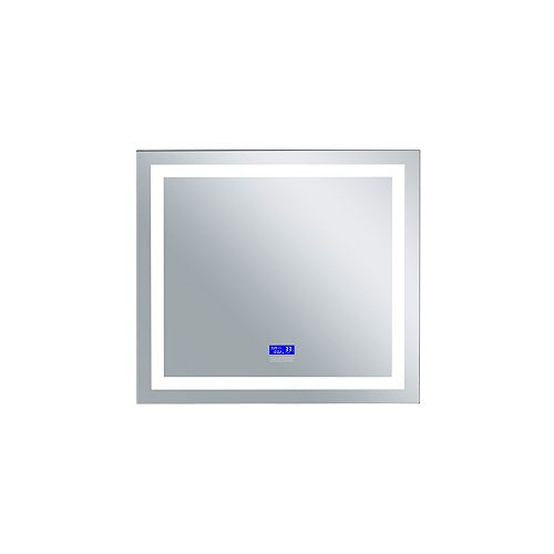LED rectangle blanc mat 40 po. Miroir De notre collection Abril Bright LED blanc