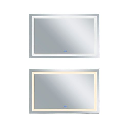 Rectangle blanc mat LED 58. Miroir De notre collection Abril