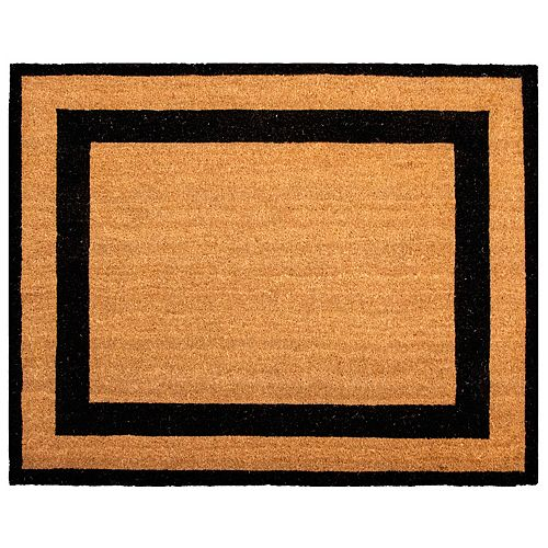 Printed 39-inch x 47-inch Estate Coir with Black Borders Door Mat