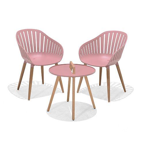 Nassau 3-piece Bistro Set (Pink)