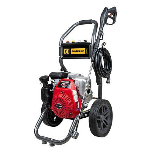 BE Power Equipment 2,700 PSI 2.3 GPM Gas Pressure Washer with Honda GC160 Engine