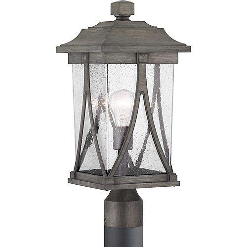 Lanterne sur poteau à une lumière, collection Abbott