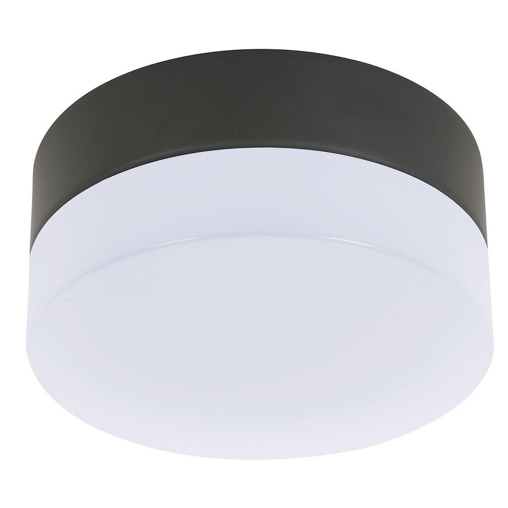 Lucci Air Éclairage de ventilateur Climate en verre au fini noir