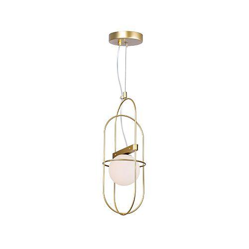 CWI Lighting Orbit 1 Light Mini Pendant with Medallion Gold Finish
