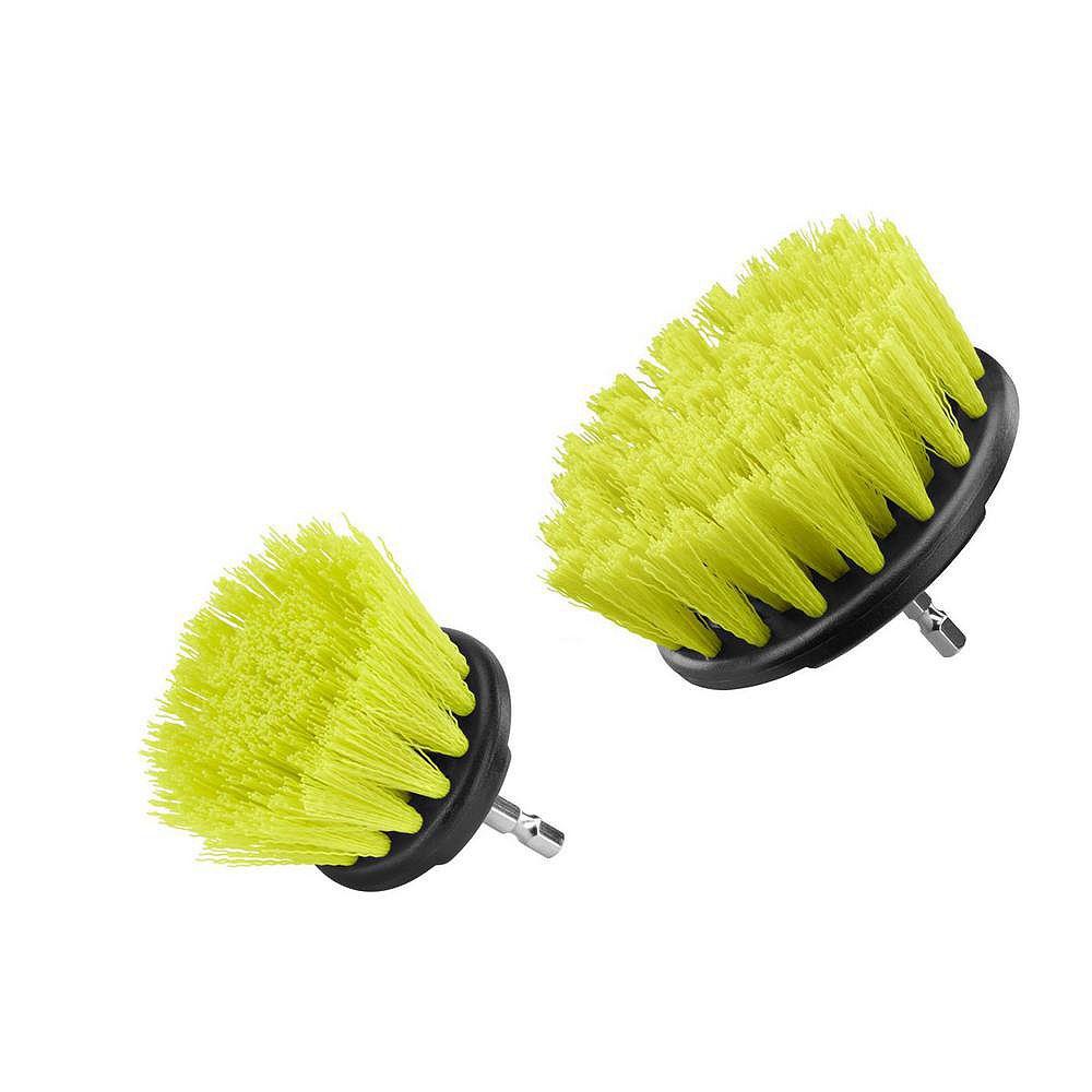 RYOBI Medium Bristle Brush Cleaning Accessory Kit (2-Piece)