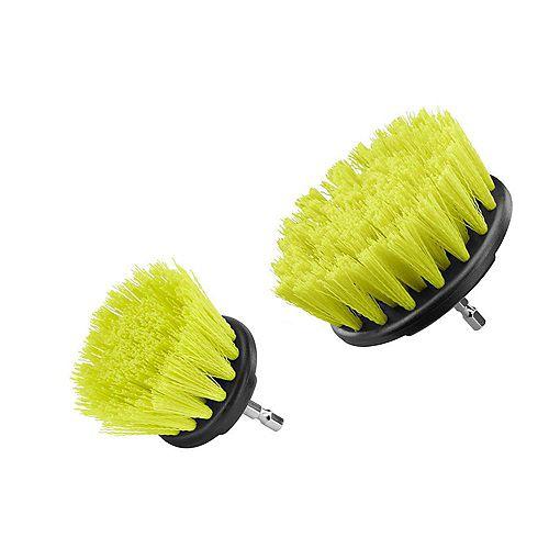 Kit d'accessoires pour le nettoyage des brosses à poils moyens (2 pièces)