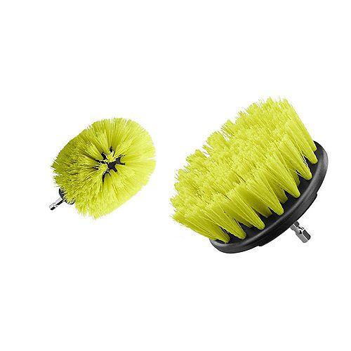 Kit de nettoyage multi-usages avec brosse à poils moyens (2 pièces)