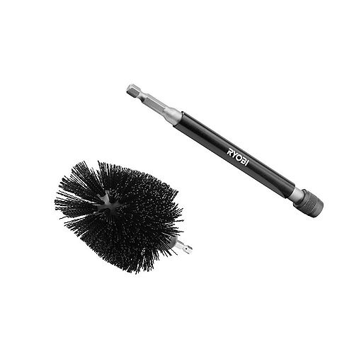 Abrasive Bristle Brush Cleaning Kit with Extension (2-Piece)