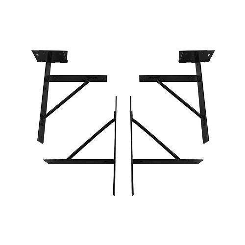 Gate Kit Bracket, Steel, Black Finish