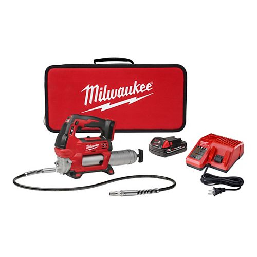 M18 18V Lithium-Ion Cordless Grease Gun 2-Speed with (1) 1.5Ah Battery, Charger & Hard Case