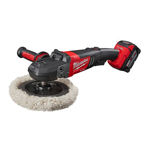 M18 FUEL 18V Li-Ion Brushless Cordless 7 -inch Variable Speed Polisher Kit W/ (2) 5.0Ah Batteries