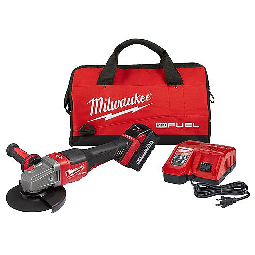 Milwaukee Tool M18 FUEL 18V Brushless Cordless 4-1/2 -inch/6 -inch Grinder W/ Paddle Switch Kit  6.0Ah Battery
