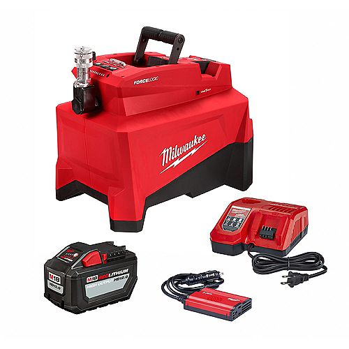 M18 FORCE LOGIC 18V Lithium-Ion Cordless 10,000 PSI Hydraulic Pump Kit with 12.0 Ah Battery