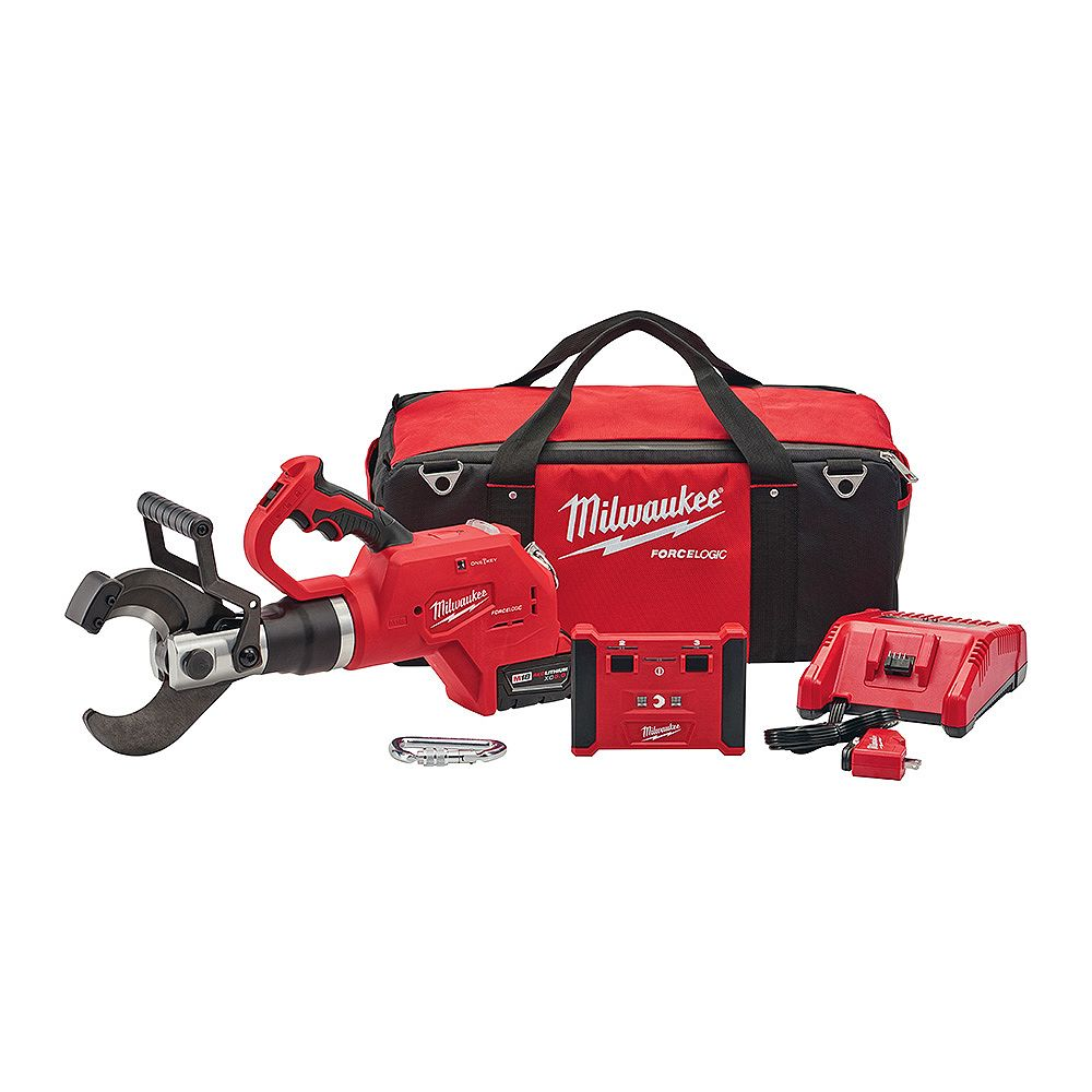 Milwaukee Tool M18 18V Lithium-Ion Cordless FORCE LOGIC 3 -inch Underground Cable Cutter w/Wireless Remote Kit