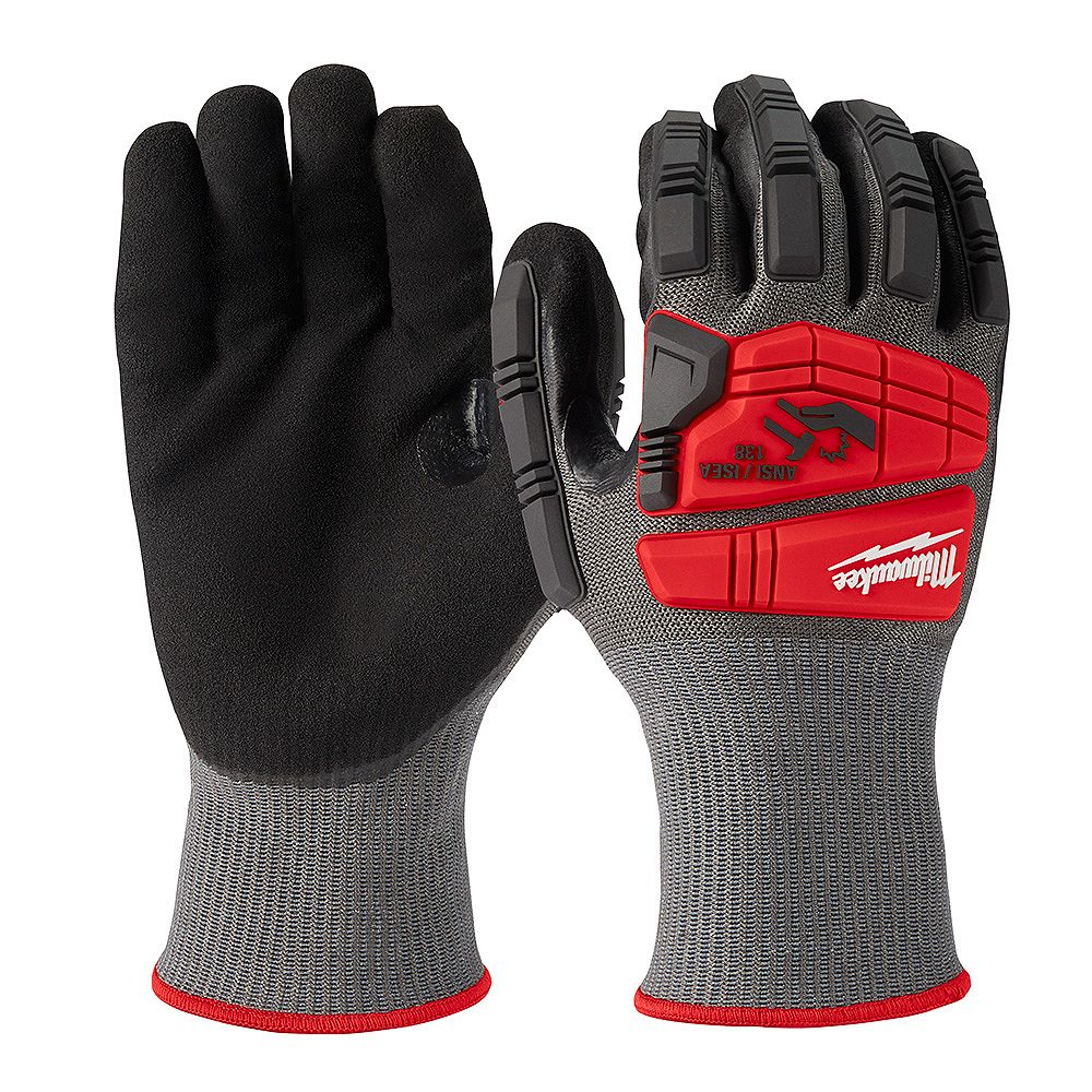 Milwaukee Tool XX-Large Nitrile Level 5 Cut Resistant Impact Dipped Work Gloves