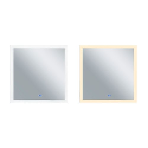 Place Matte White LED 36 po. Miroir De notre collection Abigail
