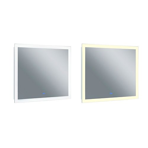 LED rectangle blanc mat 40 po. Miroir De notre collection Abigail