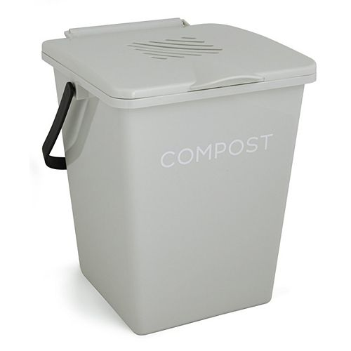 Organi 2 Gal. Kitchen Compost Collector Antique White
