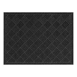Contours Parquet 2 ft x 3 ft Indoor/Outdoor Rectangular Needlepunch Charcoal Doormat