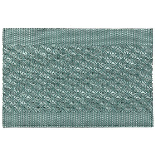 IH Casa Decor VINYL PLACEMAT (COINLINK) (GREEN)(SET OF 12)