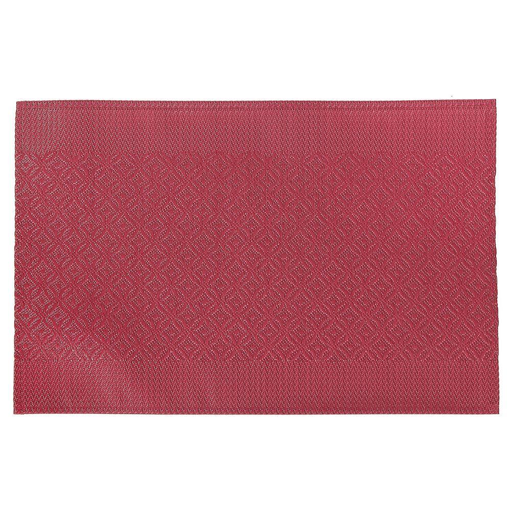 IH Casa Decor VINYL PLACEMAT (COINLINK) (RED)(SET OF 12)