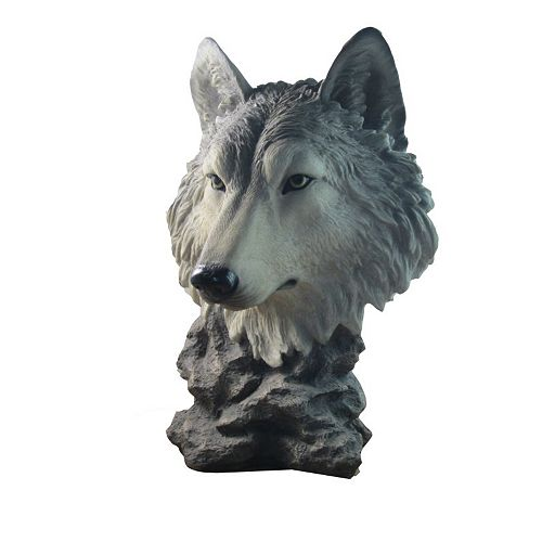 "IH Casa Decor POLYRESIN WOLF HEAD (GOSHEVEN) (16.5"")"