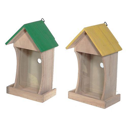 Wooden Birdhouse With Transparent Wall (Asstd)