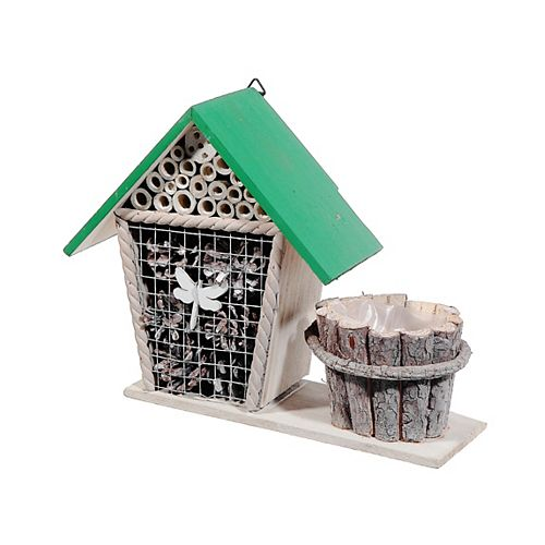 Wooden Insect Hotel With Planter