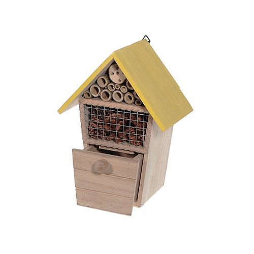 Wooden Insect Hotel With Drawer