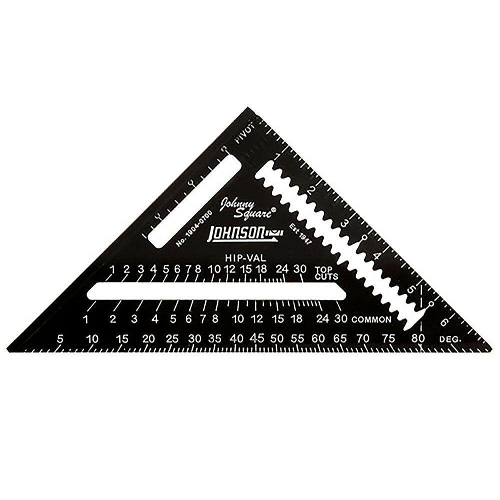 Johnson level 7 inch Black Johnny Square Professional Easy-Read Aluminum Rafter Square