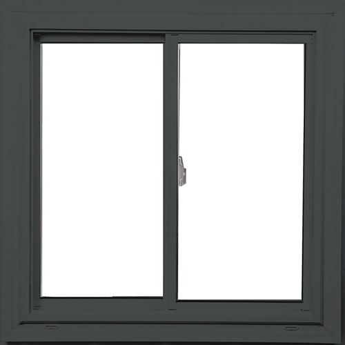 Farley Windows 24-inch x 24-inch Double Sliding Rustic Granite/White Window with Vertex3 Technology and Energy Star