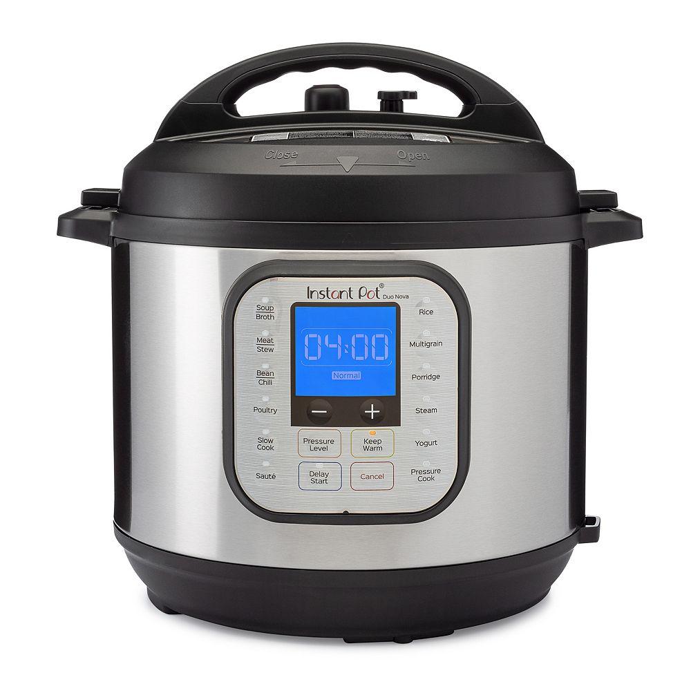 Instant Brands Instant Pot Duo Nova 6-Quart 7-in-1, Programmable Pressure Cooker
